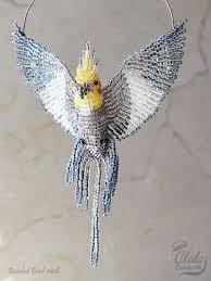cockatiel suncatcher bird ornament bird necklace bird lover gift
