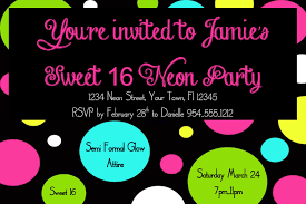 neon party invitations templates free cloveranddot com
