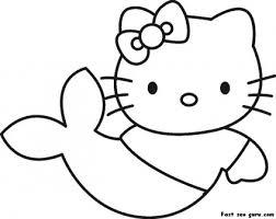 prin kitty mermaid coloring printable