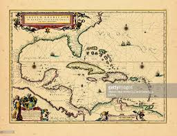 North And Central America Map by Central America North America West Indies Florida 1640 Map Stock