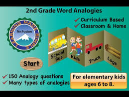 samples from 2nd grade word analogy app youtube