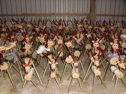 log reindeer christmas rustic reindeer wooden reindeer log reindeer snowmen