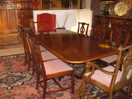 style mahogany table with 8 chairs sold
