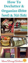 Real Solutions Kitchen Organizers Declutter Kitchen Towels U0026 Dish Cloths 15 Minute Mission