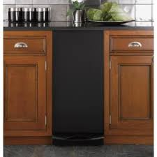 built in trash compactor ge 15 in built in trash compactor in black ucg1600lbb the home