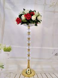 Tall Vase Centerpieces Tall Wedding Pillars Flower Stand Silver Metal Vase Centerpieces