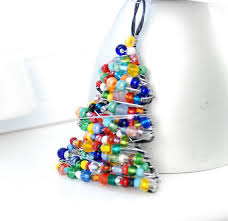 ornament beaded tree wire tree