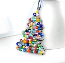 christmas ornament beaded christmas tree wire tree