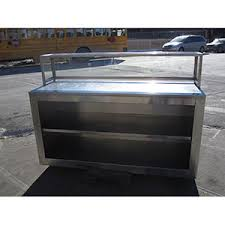 Used Stainless Steel Tables by Stainless Steel Custom Table With Sneeze Guard And Shelf Used