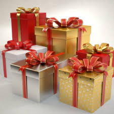 3d model gift boxes set christmas presents cgtrader