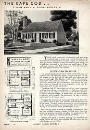 cape cod house plans 1950s cape cod sears modern homes