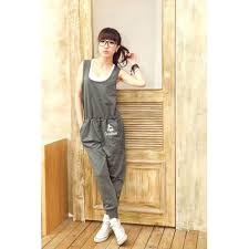 s jumpsuits scoop neck sleeveless special print casual style cotton blend