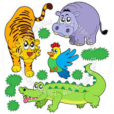 cartoon zoo animals collection by clairev toon vectors eps 43549