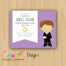 personalized cards wedding diy will you be my ring bearer groomsman best personalized