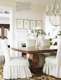 Covers For Dining Room Chairs Tie Back And Corseted Slipcovers A Fun Way To Dress Up Plain