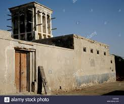 old house with wind tower in jasira quarter of ras al khaimah uae
