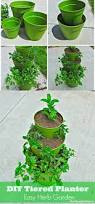 Diy Herb Garden Diy How To Make A Tiered Planter For Flowers And Herb Gardens