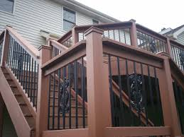 decorative composite porch railings