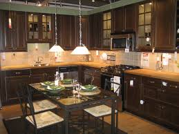 Dark Brown Kitchen Cabinets Kitchen Perfect With Oak Cabinets Inside Modern Country Design On