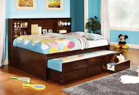 full size captains bed with bookcase headboard 16714