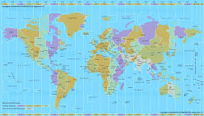 World Map With States by Canada Time Zone Map With Provinces With Cities With Clock