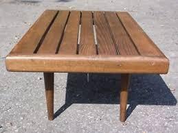 Slat Bench Vintage Mid Century Modern Yugoslavia Wood Slat Bench Coffee Table