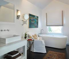 arts and crafts bathroom bathroom eclectic with window treatments