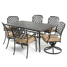 Agio Heritage  PC Dining Set - 7 piece outdoor dining set with round table