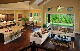 open floor plan kitchen and family room kitchen open to