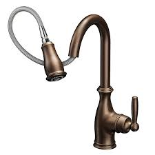 rubbed bronze kitchen faucets moen 7185orb brantford kitchen faucet