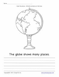 globe and maps worksheet kindergarten social studies worksheets kindergarten pics