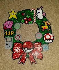 gaming christmas wreath perler beads by antina86 perler
