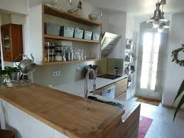 cuisine bois inox cuisiniste avignon 84 cuisine en chêne plan travail dekton