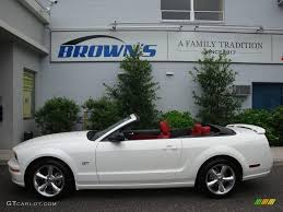 white mustang 2006 2006 performance white ford mustang gt premium convertible