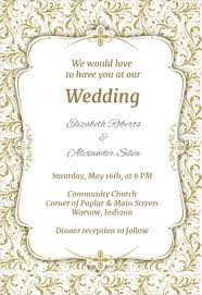 wedding invitation format 8 free wedding invitation templates excel pdf formats