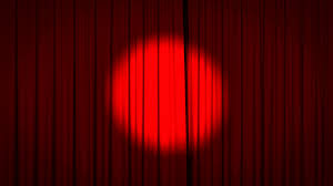 Maroon Curtains Realistic Animation Of A Red Curtain With Spotlight Opening To