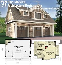Single Story House Plans Without Garage by Plan 14631rk 3 Car Garage Apartment With Class Carriage House