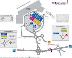 road map up airport maps edinburgh airport