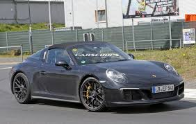 2017 porsche 911 gts targa spied undisguised gets turbo six