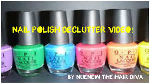 nail polish declutter video multi brand by nuenew youtube