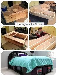 Diy Platform Bed Storage Ideas by 138 Best Diy Beds Images On Pinterest Diy Platform Bed Room And
