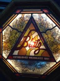 vintage lighted beer signs vintage blatz lighted beer sign electric milwaukee fail stained