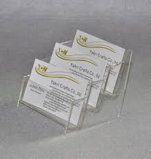 bussiness card stand acrylic brochure display place card holder