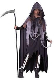 Tween Girls Mario Costume Amazon Com California Costumes Miss Reaper Tween Costume Large