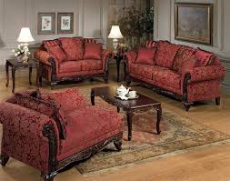 elegant 3 piece living room furniture set and fabric traditional
