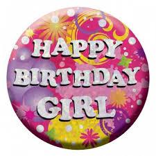 birthday girl pin badges and pins