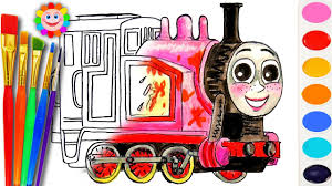 learning coloring thomas fiends draw rosie