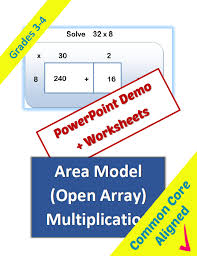 area model multiplication lesson classroom caboodle