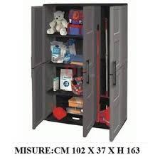 armadietto resina armadio armadietto portatutto cm 102x37x163h 2ante plastica resina