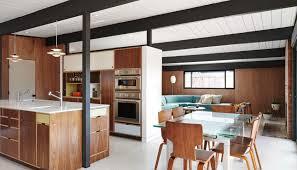 mid century modern walnut kitchen cabinets kerf design human useful beautiful we design modern